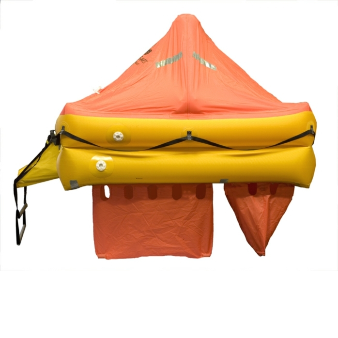 Ocean Safety ocean ISO liferaft inflated side view