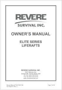 Revere Elite Series Owner's Manual
