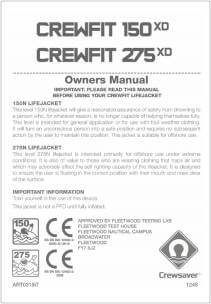 Crewfit 150XD/275XD Owner's Manual